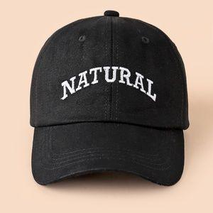 NATURAL Base Ball Cap Black